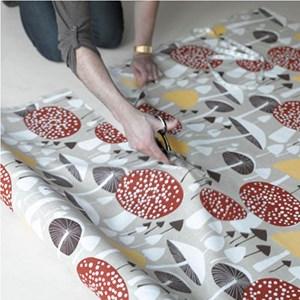 wild mushroom soft cotton fabric featuring brown autumn mushrooms by David van Berckel, printed by a