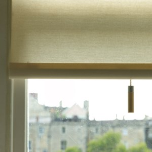 Alvo high quality interior window blind pull in stained natural beech wood and modern aluminium