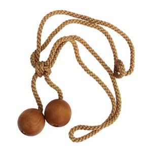 wooden ball tiebacks - waxed