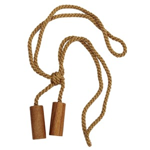 wooden cylinder tiebacks - waxed