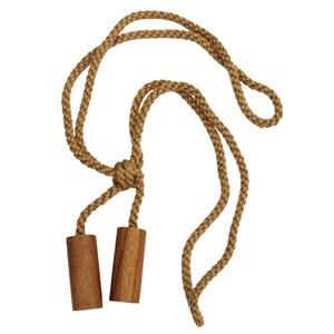 small wooden cylinder tieback - waxed