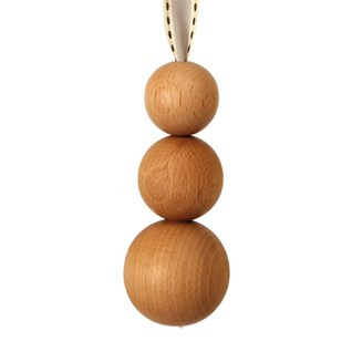 triple natural ball window blind pull ball toggle with ribbon