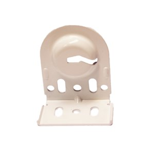 white slotted SoftRoller® bracket 531 25 010