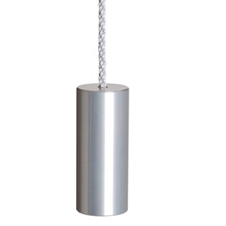 aluminium silver anodised cylinder bathroom light pull or toggle made from solid metal