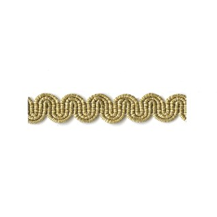 arco in pale gold metallic colour is a simple wavy curvy decorative trimming or braid