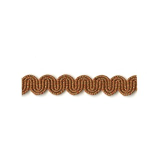 arco in copper metallic colour is a simple wavy curvy decorative trimming or braid