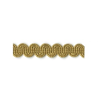 arco in antique gold metallic colour is a simple wavy curvy decorative trimming or braid
