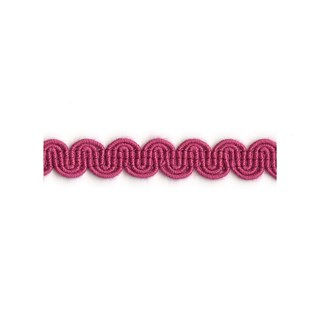 arco in fuchsia pink colour is a simple wavy curvy decorative trimming or braid