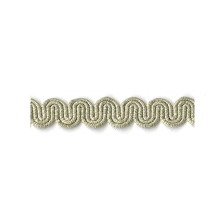 arco in glacier silver metallic colour is a simple wavy curvy decorative trimming or braid