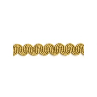 arco in ochre colour is a simple wavy curvy decorative trimming or interior braid