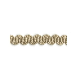 arco in parchment colour is a simple wavy curvy decorative trimming or interior braid