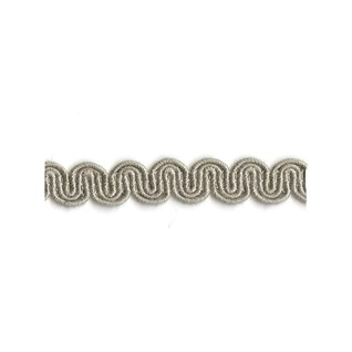 arco in pebble grey colour is a simple wavy curvy decorative trimming or braid