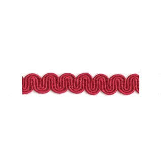 arco in redcurrant colour is a wavy curvy decorative trimming or braid