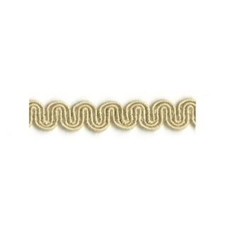 arco in buff colour is a wavy curvy decorative trimming or braid designed to bend round corners