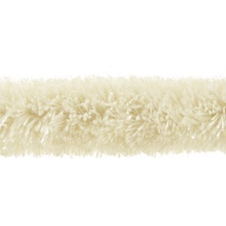 caterpillar braid decorative interior trim furry soft wool in aran off-white colour