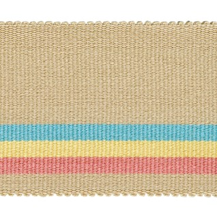 fresco wide stripe interior woven trimming braid in neoplitan colours