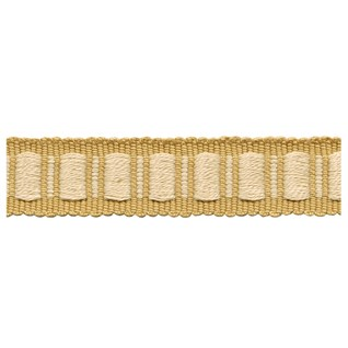 brown and cream coloured woven interior block trimming, passementerie or decorative braid