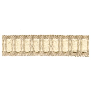 wallnut and cream coloured woven interior block trimming, passementerie or decorative braid