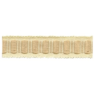 beige and cream coloured woven interior block trimming, passementerie or decorative braid