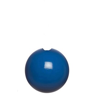 signal blue high gloss bobbi wooden ball roman blind pull