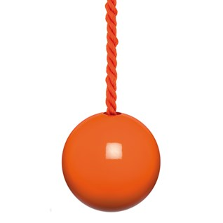 wood bathroom light pull with matching cotton rope cord in orange gloss paint