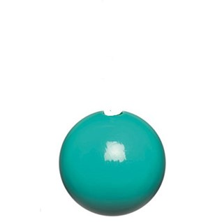 turquoise high gloss bobbi wooden ball roman blind pull