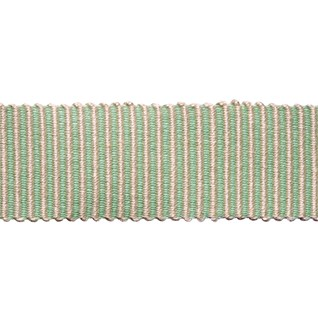 pastille stripe in pistachio ice green woven trimming is a delicate striped pastel braiding