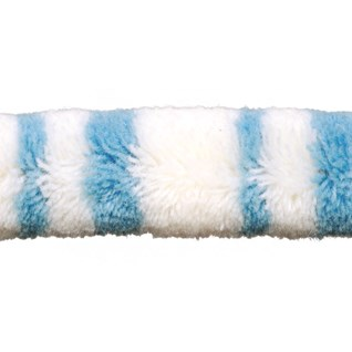 punk skunk in blue woolly braid or decorative trimming, soft for children's bedrooms