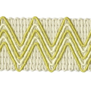 vintage zigzag trimming in citrus yellow colourway a dramatic modern decorative braid