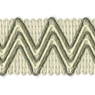 vintage zigzag trimming in pebble grey colourway a dramatic modern decorative braid