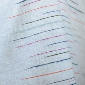 Chalkney stripe throw Soft Grey