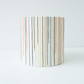 Chalkney Stripe Tub Lampshade - Cream