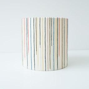 Chalkney Stripe Tub Lampshade - Cream