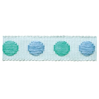 spearmint childrens spot woven decorative braid trimming for curtains or blinds
