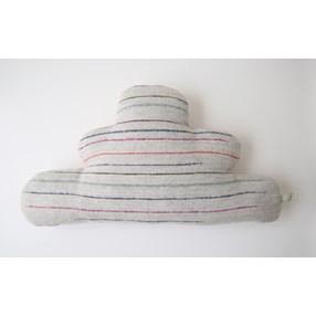 Cleo cloud cushion in soft grey