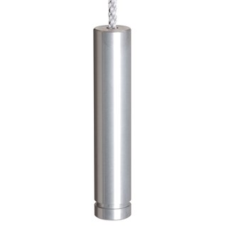 anodised aluminium slim pencil cylinder blind pull for contemporary look