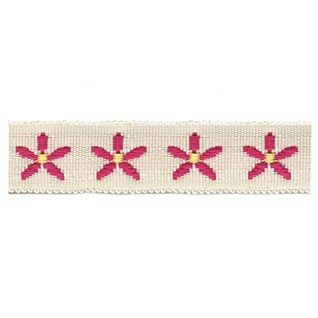 daisy chain childrens decorative trimming in fuchsia pink featuring a popular flower motif