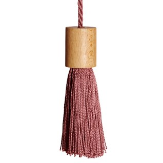 window roller blind pull tassel in rose blush colour
