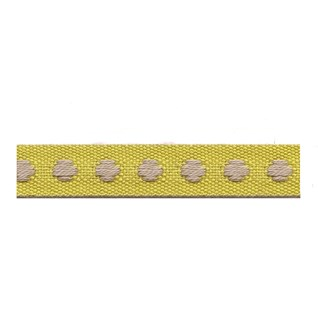 chartreuse yellow colour deco spot woven cotton interior passementerie trimming