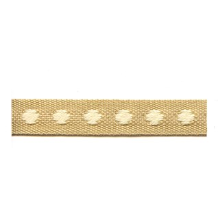 dustry ochre colour deco spot woven cotton interior passementerie trimming
