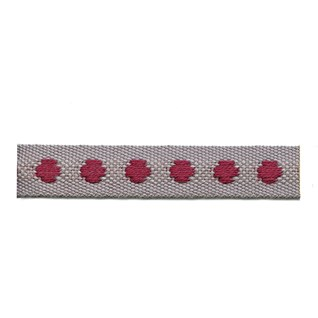persian red colour deco spot woven cotton interior passementerie trimming