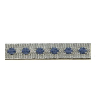 blue & grey deco spot woven cotton interior passementerie trimming