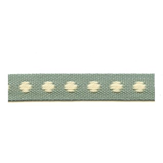 sea green & white deco spot woven cotton interior passementerie trimming braid