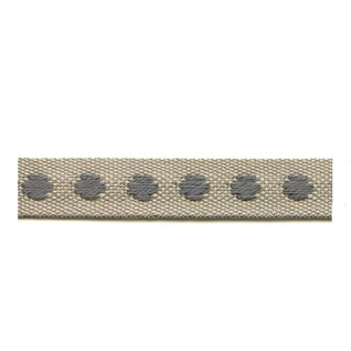smoked grey & green deco spot woven cotton interior passementerie trimming braid
