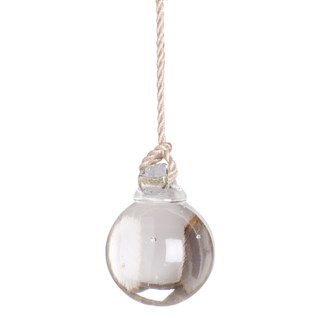 glass ball light pull -  vanilla cord