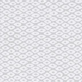 diamond burnout roller blind fabric in white