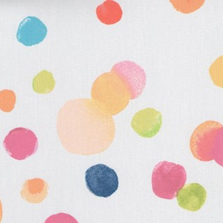 bright multi coloured spotty print design for blind bathrooms, kitchens or teenagers bedrooms