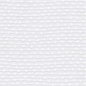 dot to dot white roller blind print with raised motif