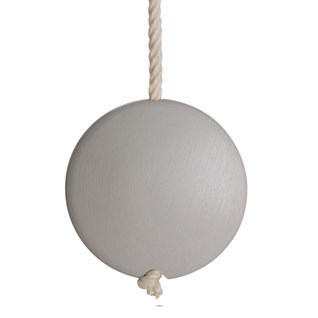 storm grey coloured lunar disc window blind pull or acorn