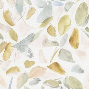 elder autumn gold roller blind fabric print of leaves